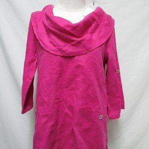 Soft Surroundings Mayfield Cowl Neck linen top Md
